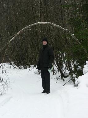 Stefan Nilsson ledde mig rätt även i snön.