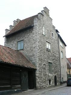 Medeltida hus i Visby.