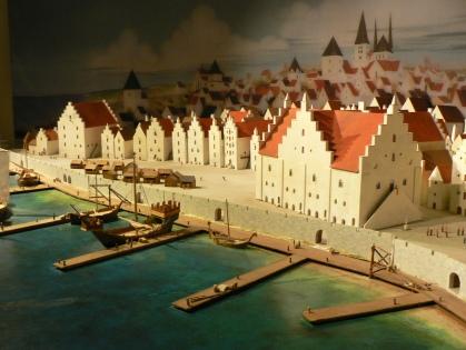 Modell av Visby ungefär 1350.