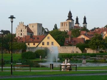 Almedalen. På medeltiden låg Visbys hamn här.