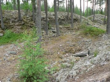 Här nånstans ligger den gamla blästerugnen där man framställde järn ur myrmalm.