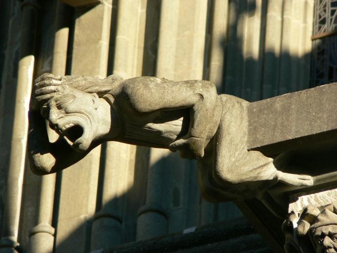 Vattenutkastare, en av tusen detaljer på katedralen.