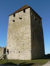 Kruttornet i Visby var en av kastalerna, försvarstornen, som skyddade Visby hamn.