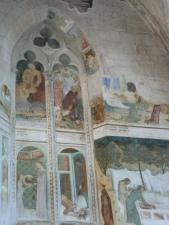 Mosaik i ett livré, ett kardinalspaats somsen blev ett kloster. så kan sdet ha sett ut hos Etienne du Bonnevie,