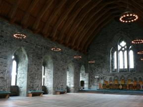 Håkonshallen, plats för både bankett och rättegång.-