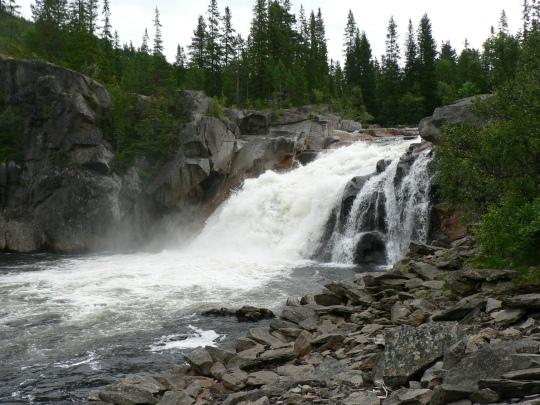 Gaulas imponerade vattenfall.
