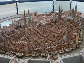 En modell av det medeltida Lübeck.