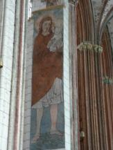Sankt Kristoffer i Mariakyrkan som Mikael ber till.